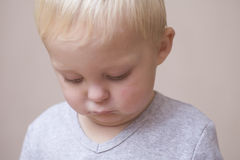 Unhappy Baby Boy Royalty Free Stock Photo