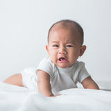 unhappy baby crying out loud Royalty Free Stock Photo