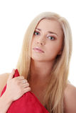 Unhappy blond woman Stock Photos