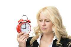 Unhappy blond woman Stock Photography