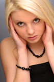 Unhappy Blonde Girl Royalty Free Stock Image