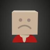 Unhappy box face Stock Photo