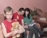 Unhappy boy Stock Image