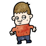 Unhappy boy cartoon Royalty Free Stock Images
