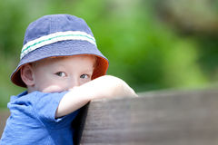 Unhappy boy Royalty Free Stock Images