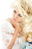 Unhappy bride royalty free stock image
