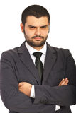 Unhappy business man stock images