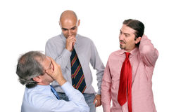 Unhappy business team Royalty Free Stock Image