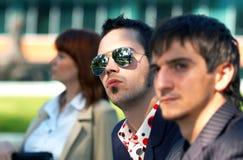 Unhappy Business Trio 2 royalty free stock photos