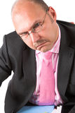 Unhappy businessman Stock Images