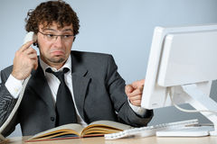 Unhappy businessman Stock Photography