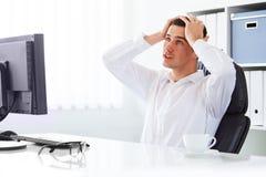 Unhappy businessman Royalty Free Stock Photos