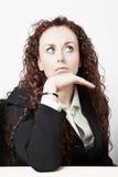 Unhappy businesswoman Stock Photos