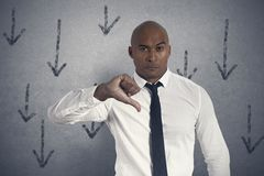 Unhappy businessman Royalty Free Stock Photo