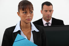 Unhappy businesswoman Stock Photography
