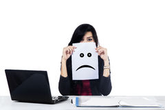 Unhappy businesswoman Stock Images