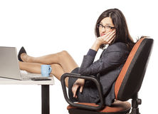 Unhappy businesswoman Royalty Free Stock Images