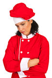 Unhappy chef woman Royalty Free Stock Photography