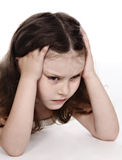 Unhappy child Stock Image