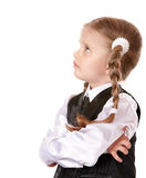 Unhappy child looking up. Royalty Free Stock Photos