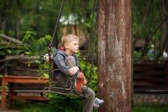 Unhappy child  sulking Stock Photo