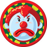 Unhappy clown Icon Royalty Free Stock Images