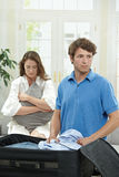 Unhappy couple Stock Images
