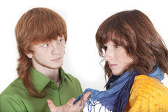 Unhappy couple Royalty Free Stock Image