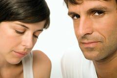Unhappy couple Stock Photos