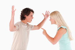 Unhappy couple arguing Royalty Free Stock Photos