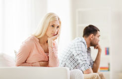 Free Unhappy Couple Having Argument At Home Royalty Free Stock Photography - 60722857