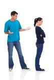 Unhappy young couple stock photography