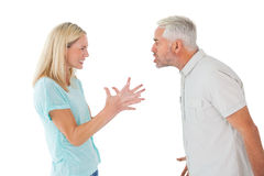 Unhappy couple having an argument Royalty Free Stock Image