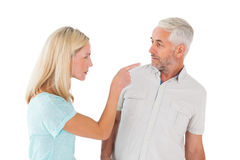 Unhappy couple having an argument Royalty Free Stock Photography