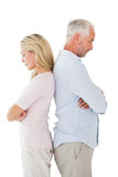 Unhappy couple not speaking to each other Stock Images