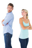 Unhappy couple not speaking to each other Stock Photo