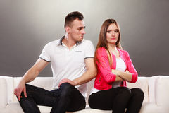 Unhappy couple not talking. Disagreement Royalty Free Stock Photography