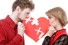 Unhappy couple thinking about divorce. Stock Photography