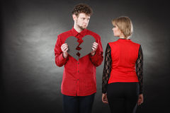 Unhappy couple thinking about divorce. Royalty Free Stock Photography
