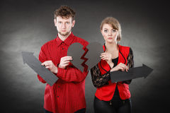 Unhappy couple thinking about divorce. Royalty Free Stock Photos