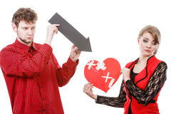 Unhappy couple thinking about divorce. Royalty Free Stock Photo
