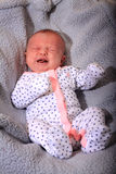 Unhappy Crying New Baby Royalty Free Stock Photo