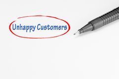 Unhappy Customers - Business Concept Royalty Free Stock Photo