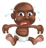 Unhappy cute cartoon baby Royalty Free Stock Images