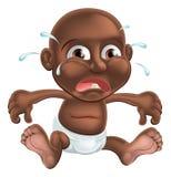 Unhappy cute cartoon baby stock illustration