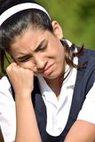 Unhappy Cute Colombian Person royalty free stock photography