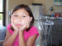 Unhappy Dental. Unhappy child at dentist Stock Photos