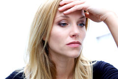 Unhappy Depressed Woman Royalty Free Stock Photography