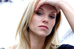 Unhappy Depressed Woman Royalty Free Stock Photo