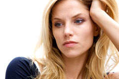 Unhappy Depressed Woman Stock Photo